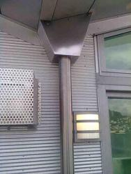 Stainless steel guttering